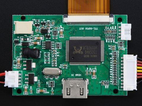 "HDMI 4 Pi: 7"" Display (no Touch) w/Mini Driver - 800x480 HDMI"