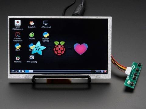 "HDMI 4 Pi: 7"" Display no Touchscreen 800x480 - HDMI/VGA/NTSC/PAL"