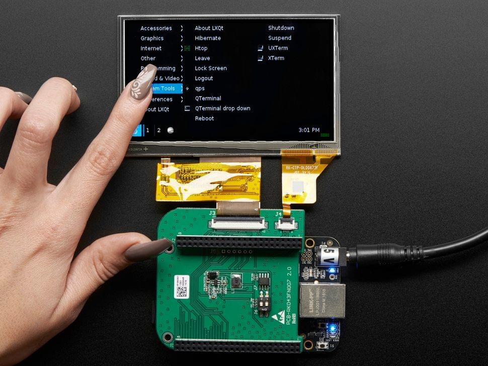 """4.3"""" LCD Capacitive Touchscreen Display Cape for BeagleBone"""
