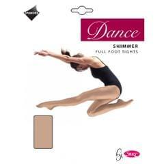 Silky Mädchen Tanz-Strumpfhose mit Schimmer-Effekt