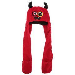 Kinder Charakter Mütze mit integriertem Schal