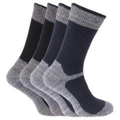 Herren Arbeitssocken / Socken mit verstärktem Zehenbereich, 4er-Pack