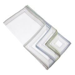 Herren Taschentücher mit Streifen-Bordüre, 10 Stück