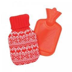 Christmas Shop Wärmflasche mit Strickhülle, Norwegermuster