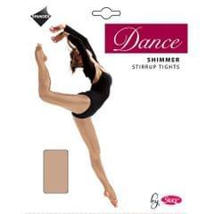 Silky Mädchen Tanz-Strumpfhose Fersen- und Zehen-Öffnung, Schimmer-Effekt