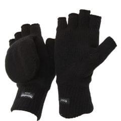 FLOSO Unisex Thermo Halbfinger Winter Handschuhe (3M 40g)