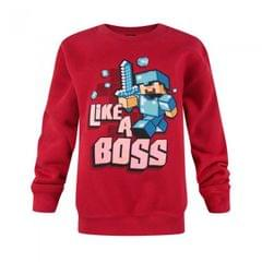 Minecraft Jungen Like A Boss Sweatshirt