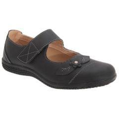 Boulevard Damen Sommer Mary-Jane-Schuhe mit Klettverschluss, weite Passform