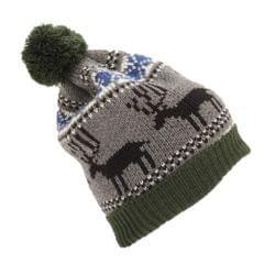 Herren Bommelmütze / Wintermütze / Strickmütze mit Rentier Weihnachts-Design