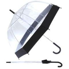 Damen Kuppel-Regenschirm, transparent