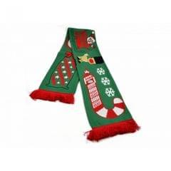 Red Bus Schlitten Christmas Schal