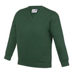 AWDis Academy Kinder Junior Schul Sweatshirt mit V-Ausschnitt