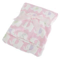 Baby Decke mit Elefanten Motiv