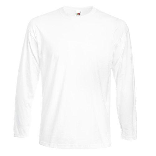 Fruit Of The Loom Herren Super Premium Langarm T-Shirt