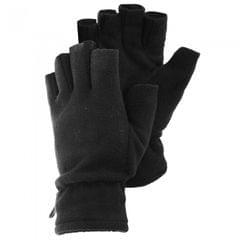 FLOSO Herren Winter Fleece Handschuhe, Fingerlos