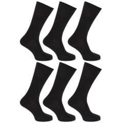 FLOSO Damen Socken, 100% Baumwolle, 6 Paar