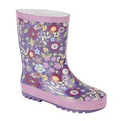 StormWells Mädchen Gummistiefel mit Floral Muster