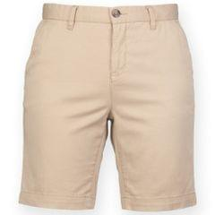 Front Row Damen Stretch Chino-Shorts