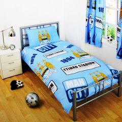 Bettwäsche mit Manchester City FC Design
