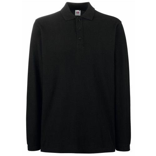 Fruit Of The Loom Premium Herren Polo-Shirt, Langarm