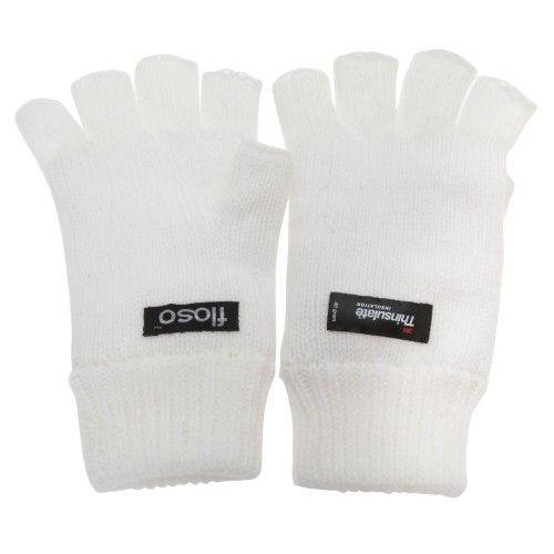 FLOSO Damen Thermo-Handschuhe mit Thinsulate-Futter, fingerlos
