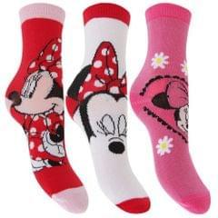 Kinder Mädchen Socken mit Disney Minnie Maus Design (3er Packung)