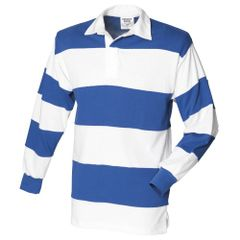 Front Row Rugby Polo-Shirt, langärmlig, gestreift