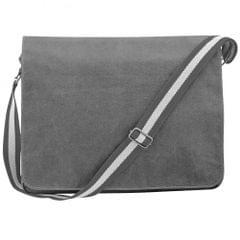 Quadra Vintage Segeltuch-Tasche / Umhängetasche, 14 l