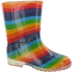 Cotswold Kinder PVC Gummistiefel Regenbogen
