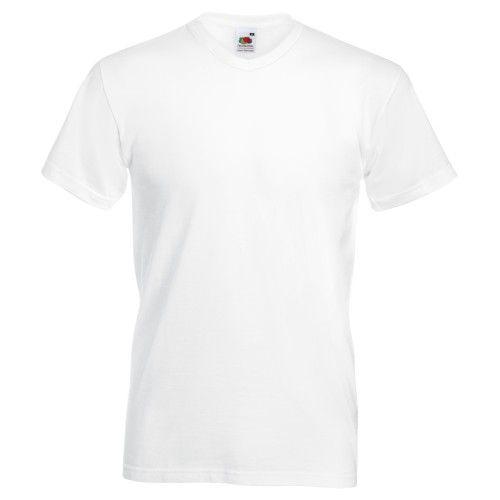 Fruit Of The Loom Valueweight T-shirt für Männer mit V-Ausschnitt, kurzärmlig