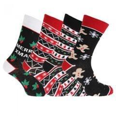 Festive Fun Herren Weihnachtssocken (4 Paar)