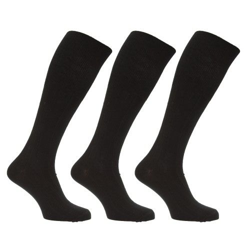 Herren Socken / Kniestrümpfe, lang, mit Lammwoll-Anteil, 3er-Pack