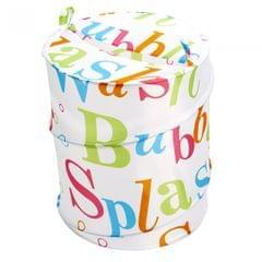 Waterline Splash Pop-Up Wäscheaufbewahrung / Wäschesammler / Wäschekorb mit Text