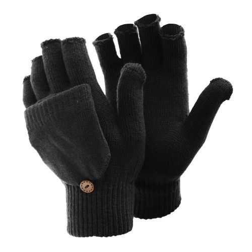FLOSO Damen Winter Handschuhe, fingerlos
