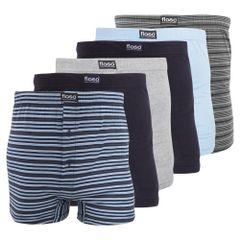 FLOSO Herren Boxer Shorts (6er Packung)