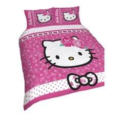 Hello Kitty Kinder/Mädchen Wende Bettwäsche Sommerwind