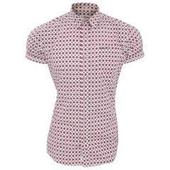 Lee Cooper Herren Barling Hemd, gemustert, kurzärmlig