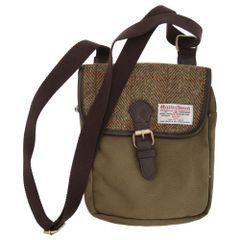 Harris Tweed Schultertasche / Messenger-Tasche