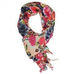 Damen Sommer-Schal / Tuch mit Rosenmuster