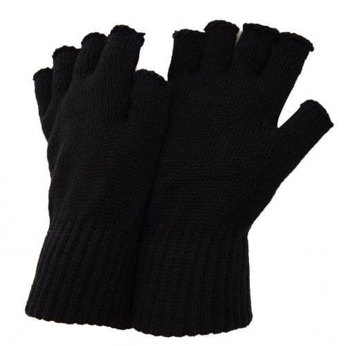 FLOSO Herren Winter Halbfinger-Handschuhe