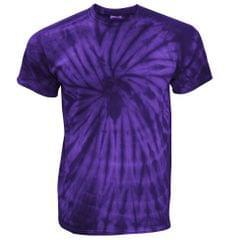 TDUK Herren T-Shirt in Batikoptik, kurzärmlig, Design Spirale