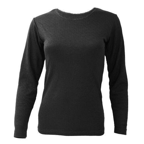 FLOSO Damen Thermo Unterhemd, langärmlig