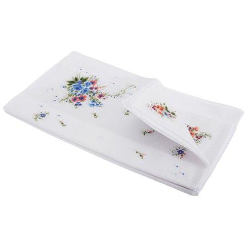 Damen Taschentücher mit Blumenmuster, 8 Stück