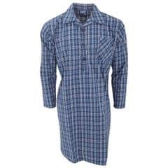 Herren Langarm Nachthemd mit Muster