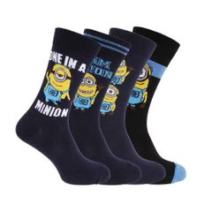 Despicable Me Herren Socken mit Minion-Design, 4er-Pack