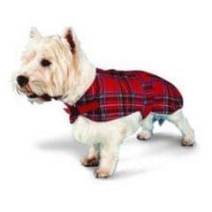 Pennine Hundejacke mit Schottenmuster