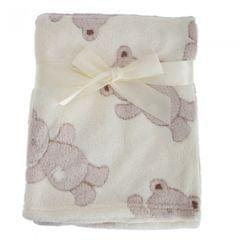 Kuschelweiche Baby Decke mit Teddy Bär Design für Jungen und Mädchen