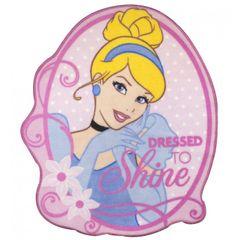 Kinder Mädchen Bettvorleger / Teppich mit Disney Prinzessin-Motiv, glitzernd