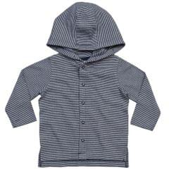 BabyBugz Baby Jungen Gestreiftes Kapuzen T-Shirt
