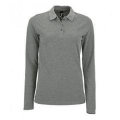 SOLS Damen Pique-Polo-Shirt, langärmlig